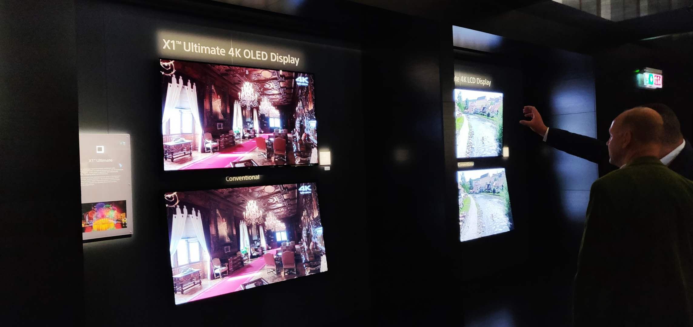 索尼在电视方面尝到了OLED的甜头,依然主打X1 OLED。