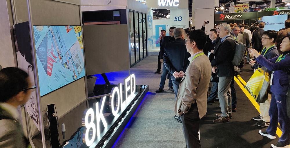 创维88��8K OLED电视,本届CES创维镇馆之宝。