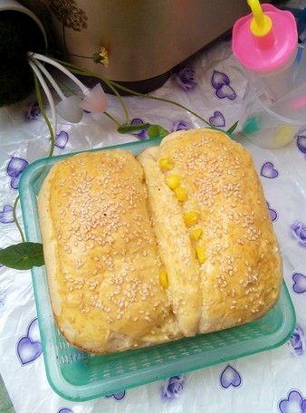 午餐肉玉米吐司