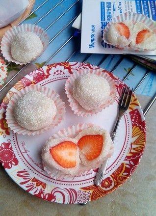 草莓糯米糍制作第0步
