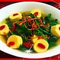 虫草花煨菠菜枸杞豆腐汤
