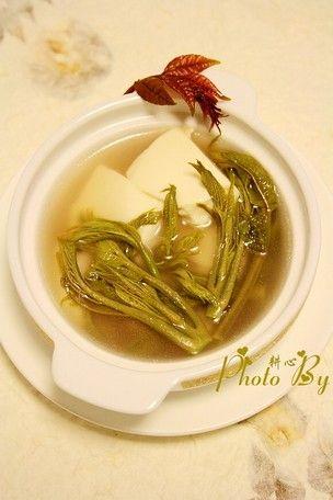 【家常菜】椿芽豆腐汤