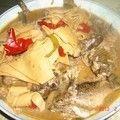 [家常菜]鱼炖干豆腐