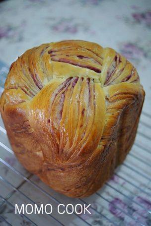 健康美味的紫薯千层面包(面包机版)
