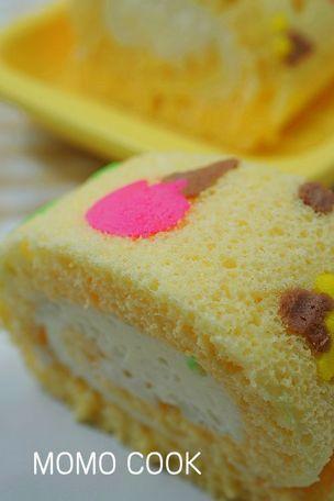 冰淇淋彩绘蛋糕卷