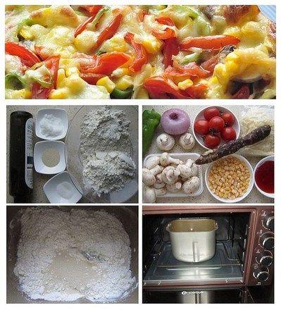 腊肠蘑菇披萨制作方法第1步-万维家电网