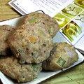 豆渣杂蔬蒸饼
