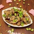青豆炒花蛤