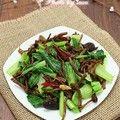 茶树菇炒青菜