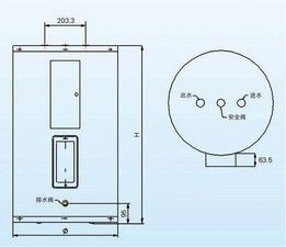 史密斯DEN-80、6Kw商用小功率容积式电热水炉