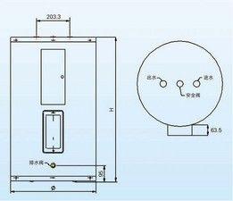 史密斯DEN-50、10Kw商用小功率容积式电热水炉