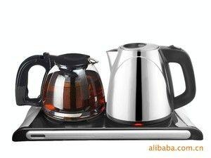 安博尔电水壶 电热水壶 豪华礼品套装保温1.2L