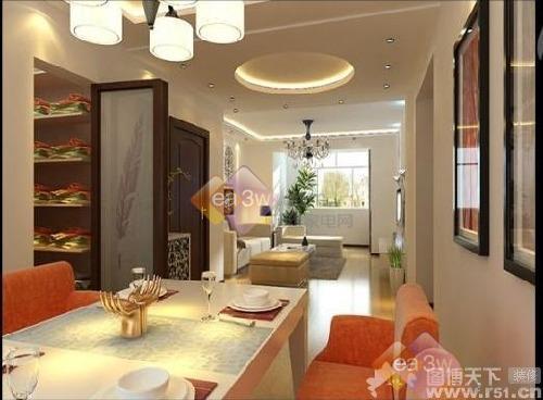 90平米样板房家居装饰图片 高清图片