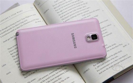 粉色版三星Galaxy Note 3真机图赏