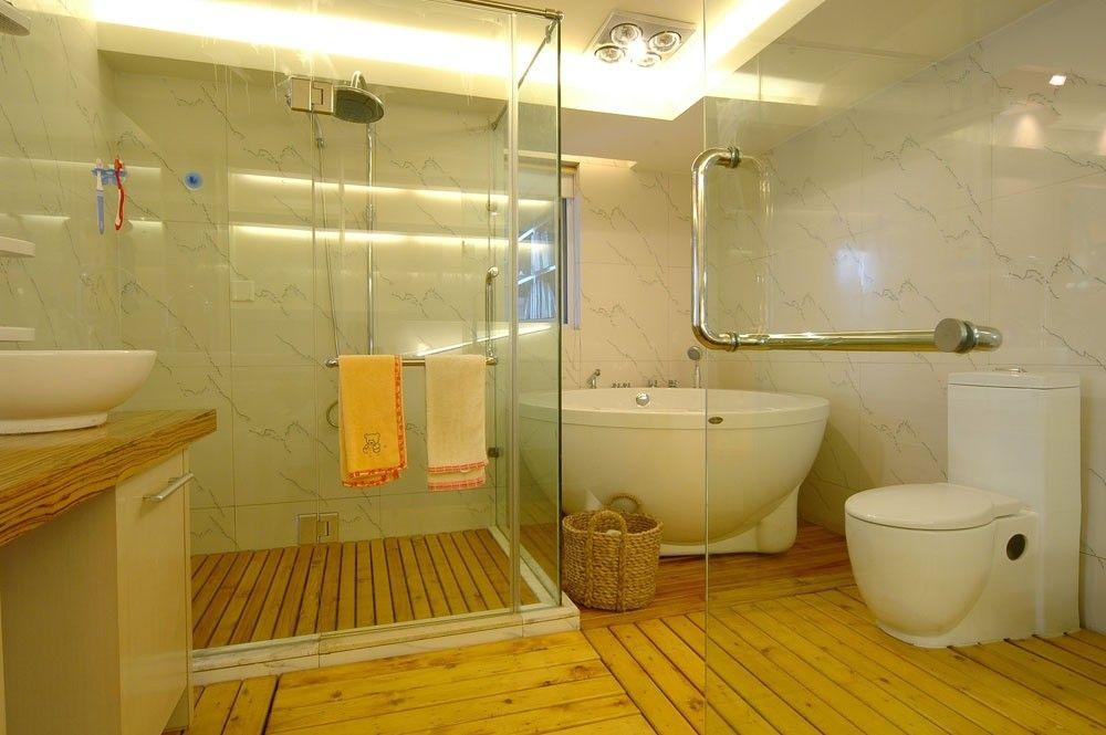 卫生间隔断装修效果图 欧式卫生间装修效果图 别墅卫生间